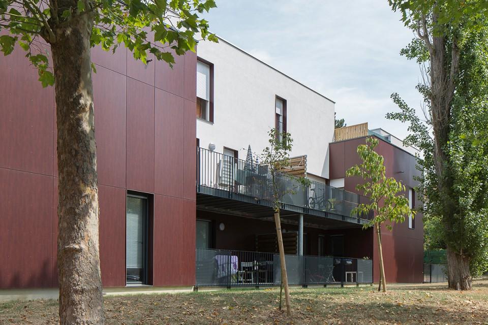 Façade arrière des logements à Metz-Queuleu