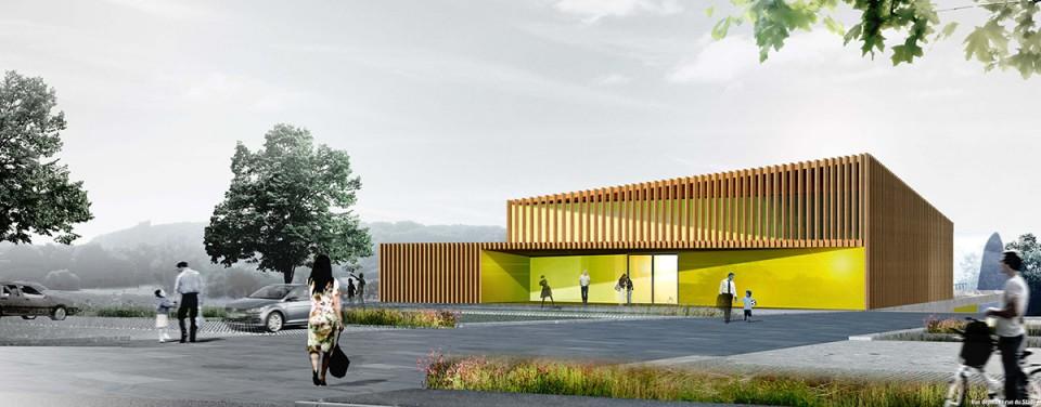 Construction d'une salle polyvalente et vestiaires à Entrange