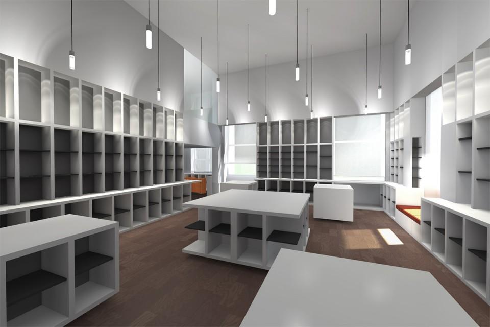 Second étage de la Librairie francaise à New-York