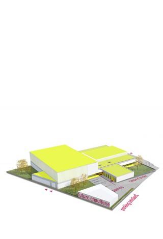 Plan de la salle de gymnastique de Fameck