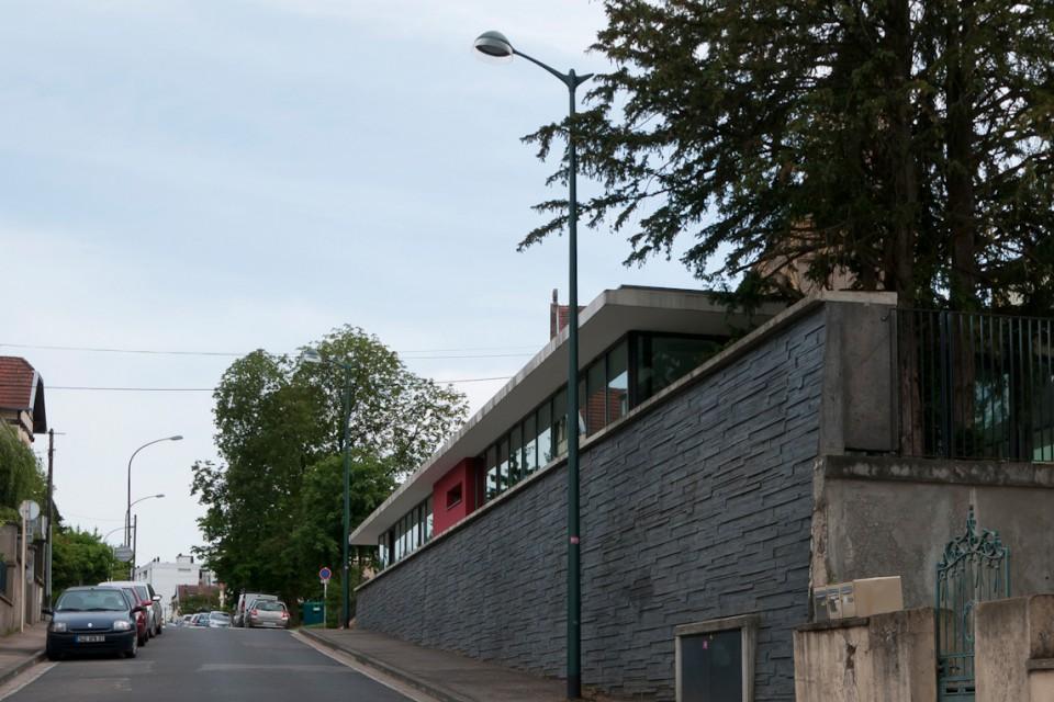 Mur de soutènement mairie de quartier