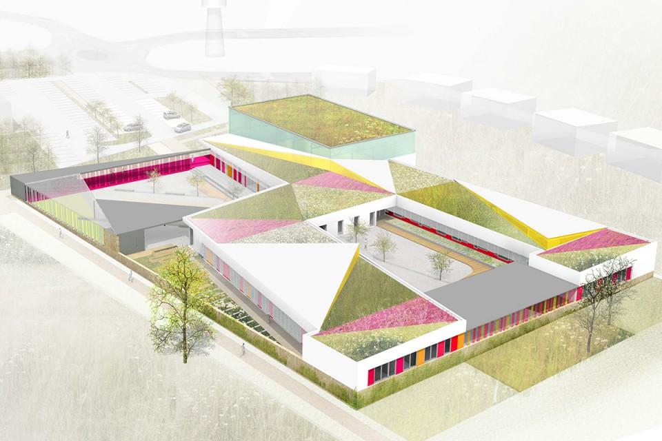 Plan du groupe scolaire d'Ancerville