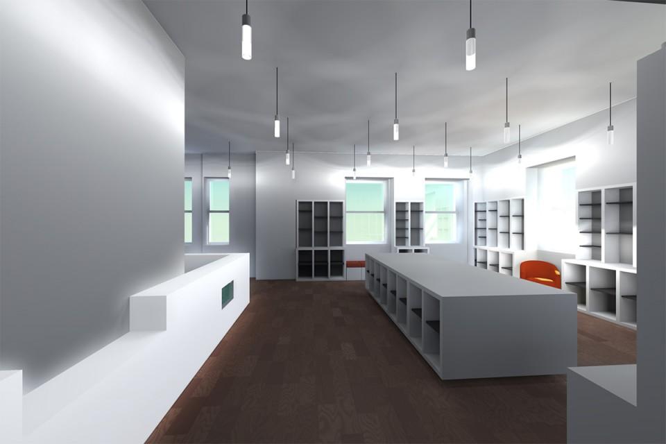 Premier étage de la librairie francaise à New-York