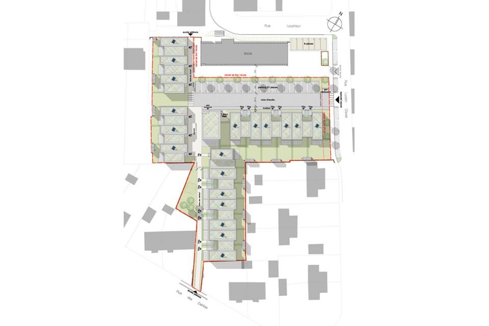 Plan masse de logements pour seniors