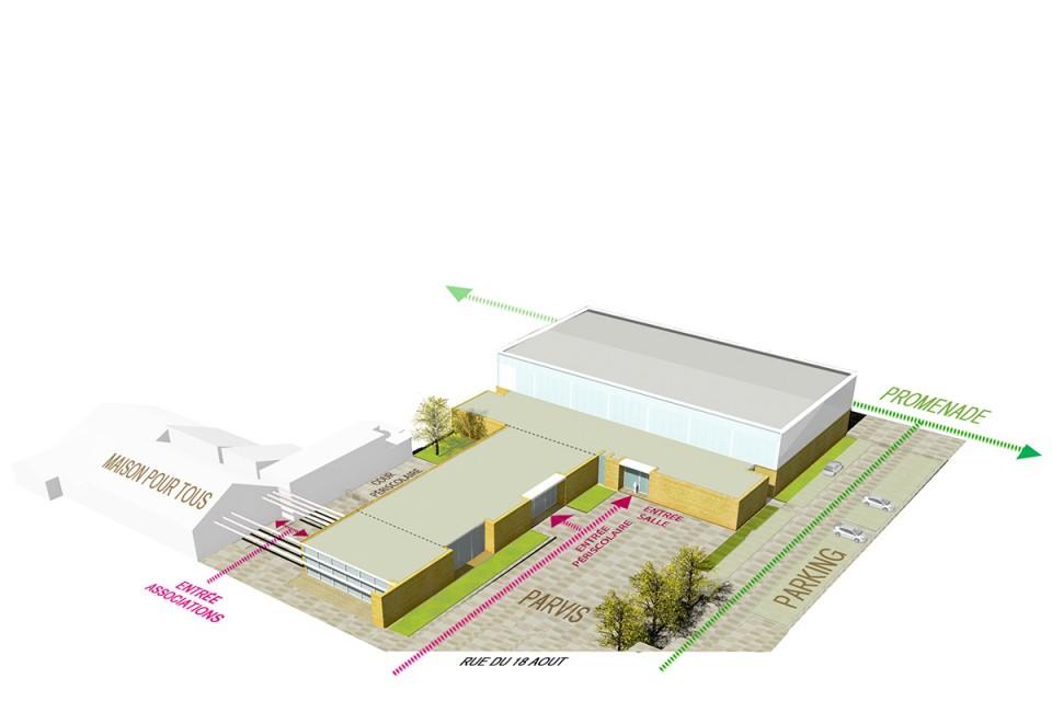 Plan salle de sport de st Privat