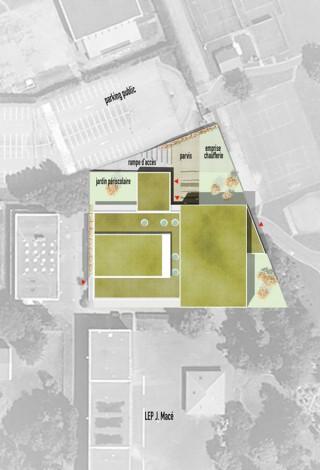 Plan salle de sport et périscolaire-Fameck
