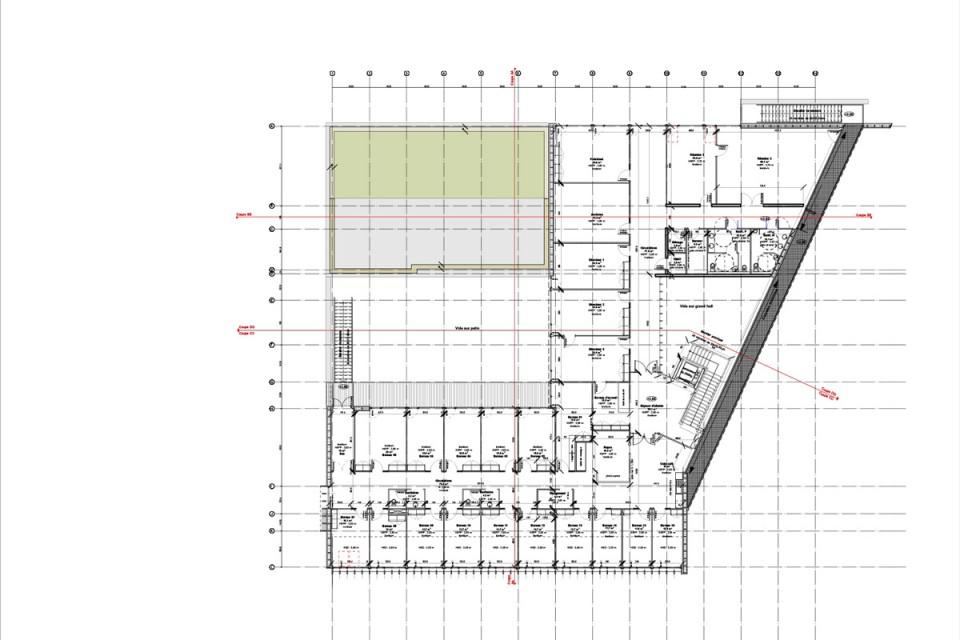 Plan de l'étage du siège du SYDEME à Morsbach