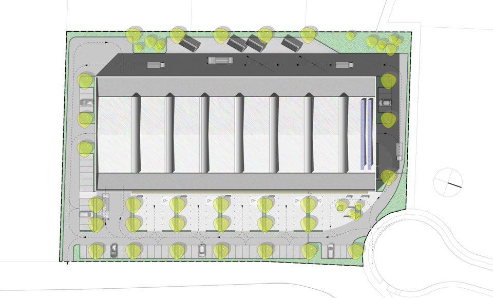 Plan de masse du centre technique communautaire