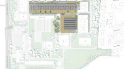 Plan masse du lycée Heinrich Nessel à Haguenau