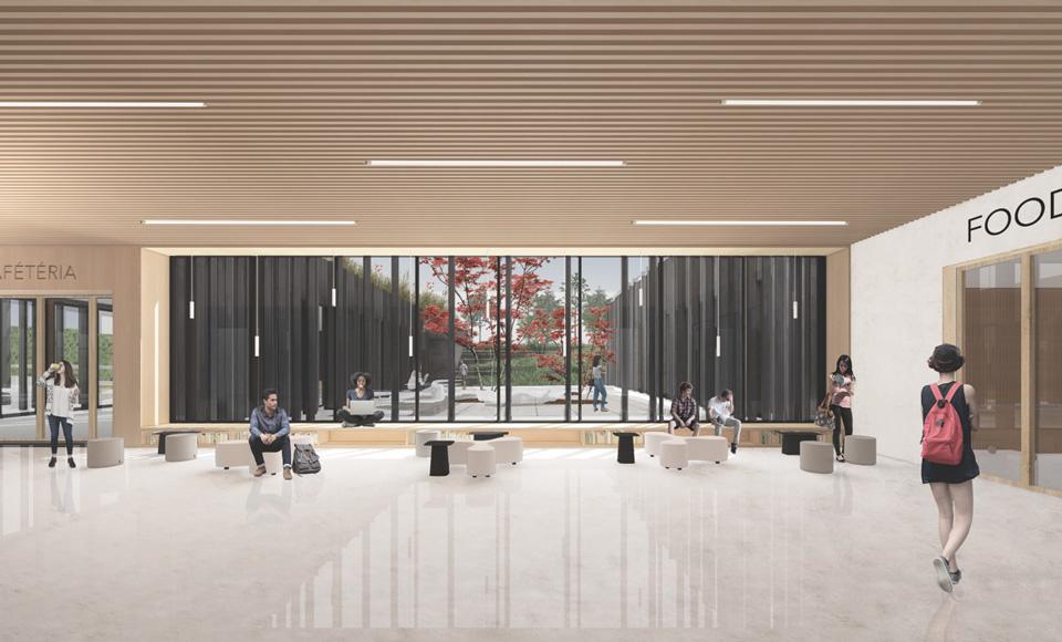 Hall du projet de construction du Restaurant Universitaire à Mulhouse